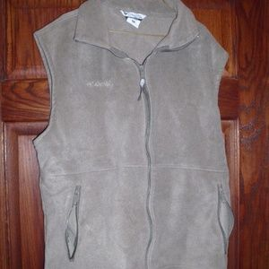 Columbia Sports Wear Vest Tan Black Sz. XL